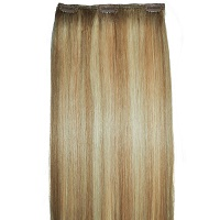 multitonal blonde highglighted human hair extensions
