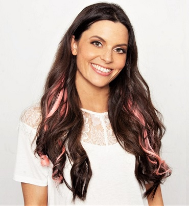 Really thick brown hair extensions with pink hair