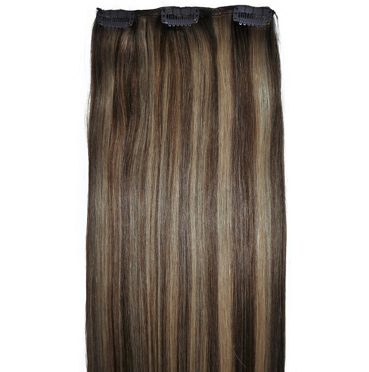 Brunette and blonde balayage hair extensions